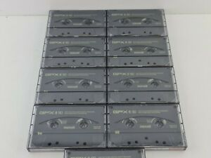 Lot 9 cassettes GPX-90 type II   high position vgc