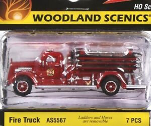 NEW Woodland Scenics Fire Truck HO Scale AS5567