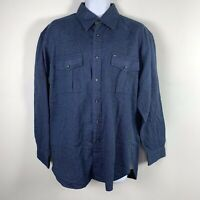 Tommy Hilfiger Mens Shirt Sz L Blue Casual Button Down Long Sleeve New SX9