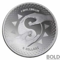 2020 Tokelau Equilibrium Silver Coin 1 oz .999 Fine Silver Yin-Yang coin INSTOCK