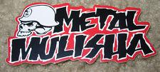 "METAL MULISHA Skull Red Text Sticker 3"" motocross skateboard bike decal skate"
