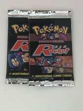 2x Pokemon Team Rocket Sealed Booster Pack  (1) 21g (1)20g