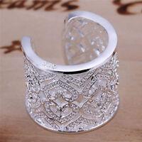 Zircon Heart Ring Women/Men Midi Finger Knuckle Rings Engagement Band Jewelry TD