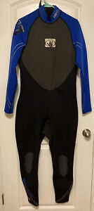BODY GLOVE Wet Suit PRO 2 Men's Size XL Full Length Long Sleeve Blue Black