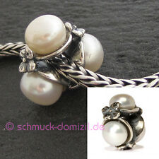TROLLBEADS Dreifache Perle weiß - Triple, White 51732