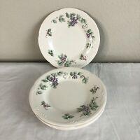 "Pfaltzgraff Grapevine Dinnerware Salad Plates China Set of 4 8.25"" NO CHIPS"