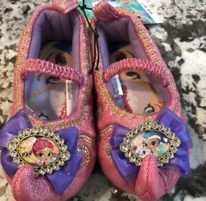 NWT TODDLER GIRL SHIMMER AND SHINE SLIPPERS SIZE S (5/6)