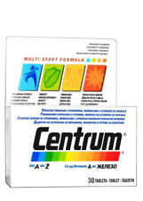 Centrum Men complex of vitamins + minerals specially adapted to the man needs 30