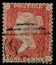 SG38, 1d pale red PLATE 66, LC14, FINE USED. Cat £35. DB