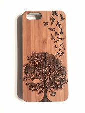 Birds Flight Case for iPhone 7 Plus Bamboo Wood Cover Tree Swallows Fly Natural