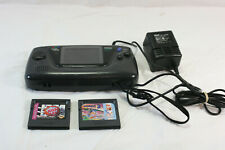 Sega Game Gear Console Model 2110 Black w/ Charger NBA Jam, Sonic & Tails As Is