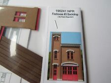 GC Laser HO Scale Firehouse Backdrop  Kit #190241 No Paint!  Bob The Train Guy