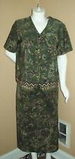 Size 24 Plus Bentley Green,gold,purple,black short Sleeve Top & skirt
