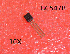 10x BC547B Transistor NPN 50V 100mA 0.1A Small Signal Transistor TO-92