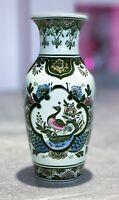 "Villeroy & Boch Vase Blumenvase ""Paon"" Porzellan handausgemalt - Made in Germany"