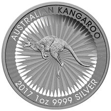 AUSTRALIA 2017 KANGAROO $1.00 .9999 1 TOz GEM BU  FROM ORIGINAL TUBE