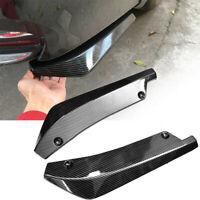 2pcs Carbon Fiber Car Rear Bumper Fin Canard Splitter Diffuser Spoiler Lip Kits
