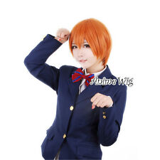 30CM Orange Fashionable Straight Unisex Cosplay love live Hoshizora Rin Wig AU