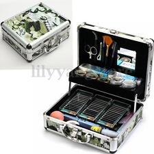 Professional False Extension Eyelash Glue Brush Kit Set with Case Box Salon Tool