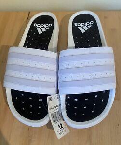 Adidas Adilette Ultra Boost Unisex Slides Sandals Cloud White EG1909 NEW Mens 12