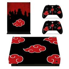 Xbox one X Console Controllers Decals Vinyl Stickers Akatsuki Red Clouds Naruto