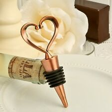 COPPER HEART WINE BOTTLE STOPPER FAVOR....100 PIECES....GREAT FOR ALL OCCASIONS