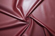 Burgundy Matte Pleather Faux Leather Stretch Polyester Lycra Spandex Fabric BTY