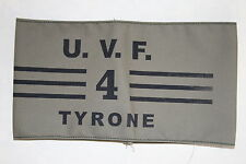 WW1 COPY IRISH IRELAND ARMBAND ULSTER VOLUNTEER FORCE UVF 4 TYRONE