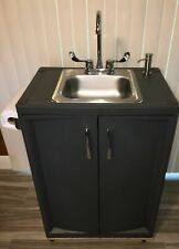 Outdoor sink Portable Hand Washing Sink Station,self contained,garden sink.