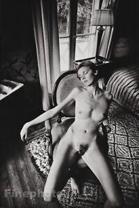 1976 Vintage JEANLOUP SIEFF Female Nude Sleeping On Chair Paris Photo Art 11X14