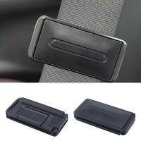 2PCS Black Car Seat Belt Adjuster Clip Stopper Buckle Safe Comfortable UK
