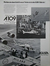 10/1977 PUB AGUSTA A109 HELICOPTER HUBSCHRAUBER ORIGINAL GERMAN AD