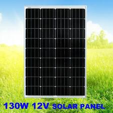 130W 12V Solar Panel Kit Generator RV Caravan Camping Power Mono Charging 4X4