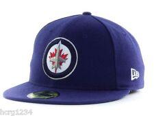 NEW ERA 59FIFTY NHL TEAM LOGO FITTED HOCKEY HAT/CAP - WINNIPEG JETS - 7 1/2