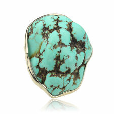 Vintage Style Tibet Silver Turquoise Charm Irregular Cocktail Ring TB1048K