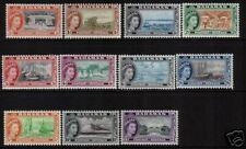 BAHAMAS 1954 QEII PICTORIALS PART  SET 11 MLH