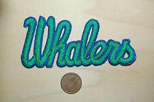 """Hartford Whalers Vintage Defunct 4"""" Wordmark Script Patch Hockey"""