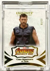2021 Marvel Black Diamond Chris Hemsworth as Thor Exquisite Yellow 01/23 ALPHA