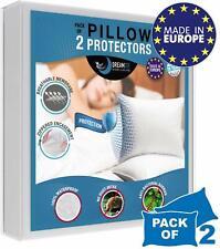 Protege Oreiller Impermeable Respirant, Hypoallergénique, Anti-Acarien, Anti-Bac