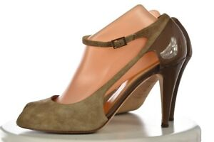 Kate Spade Womens Shoes Size 9.5 Taupe Brown Ankle Strap Pump Suede Heels