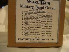 Nickelodeon Player Piano Band Organ Music Roll style 150 #13265-13270