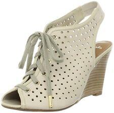 Clarks Christine Ski WOMEN'S UK 7 D OSSO IN PELLE CON ZEPPA TACCO Softwear Sandali Nuovo