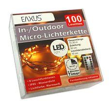 Batterie Lichterkette 100 LED Fernbedienung & Timer |  Leuchtdraht Lichterdraht