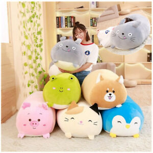 Chubby Cute Cat Plush Toy Soft Stuffed Cartoon Animal Cushion Pillows Home Decor