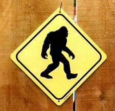 Sasquatch Bigfoot Crossing Xing Symbol Highway Route Sign