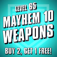 Borderlands 3 [WEAPONS] Buy 2 Get 1 Free [LEVEL 65 M10] BL3 Guns [ALL PLATFORMS]