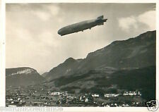 N°73 ZEPPELIN Brunnen Switzerland Schweiz Dirigible AIRSHIP CARD IMAGE 30s