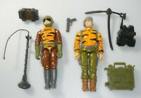 Lot 1988 GI Joe Tiger Force Tripwire v3 & Lifeline v2 Figure Set w/ Accessories