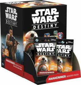 New BOX Of 36 STAR WARS Destiny AWAKENINGS Booster PACKS Ea w/ 5 Cards 1 Die TCG