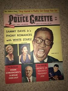 1959 FEBRUARY THE NATIONAL POLICE GAZETTE MAGAZINE - SAMMY DAVIS JR. NOVAK.